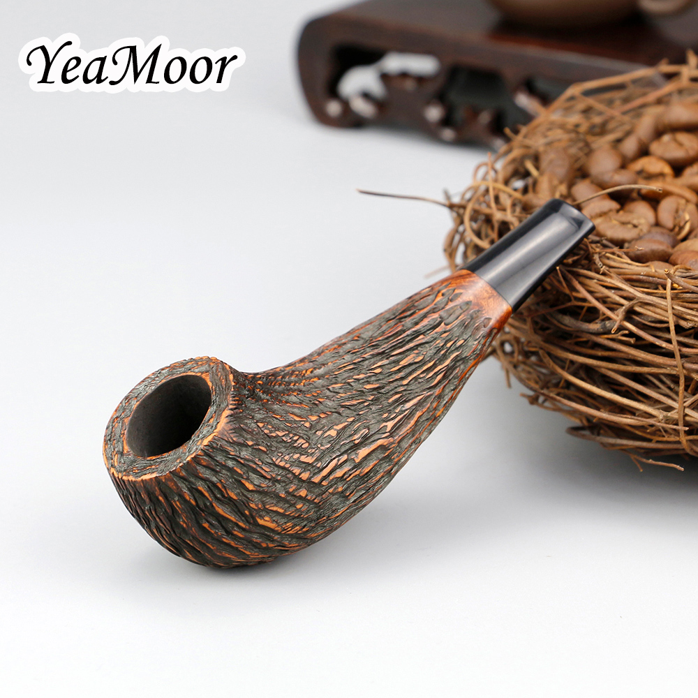 Top Grade Carven Briar Pipe 9mm Filter Smoking Pipe 100 cleaners free Briar Wood Pipe Random