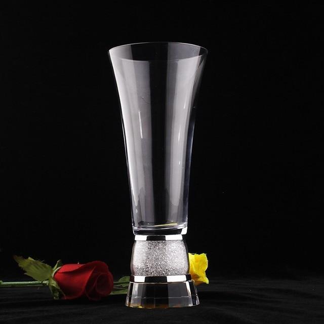 Twinkling Crystal Base Flower Vase Italian Fashion Decoration For