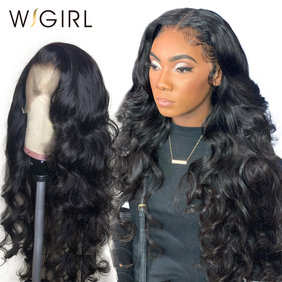 Wigirl 8- 26 Inch 360 Lace Frontal Wig 13X6 Lace Front Human Hair Wigs Pre Plucked With Baby Hair Body Wave For Black Women