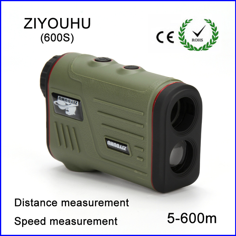 2018 New Hunting Monocular Telescope 6X25 Golf Laser range Distance Meter Speed Rangefinder 600m Range Finder for Golf Sport hunting tactical golf distance meter laser range finder speed tester monocular 6x21 600m laser rangefinder