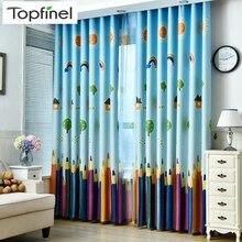 Новые Мультяшные цветные карандаши, детские шторы, шторы для детской комнаты для гостиной, светонепроницаемые шторы для спальни для детей, прекрасные шторы