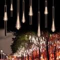 30 CM/50 CM lluvia de Meteoros Lluvia Tube 240LED Impermeable LED Luz de la Secuencia de la Navidad de La Boda Al Aire Libre LLEVÓ Los Tubos con conector