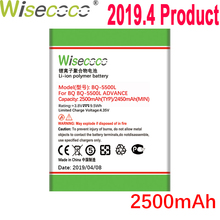 WISECOCO 2500mAh Battery For BQ BQS 5500L BQS-5500L ADVANCE Mobile Phone In Stock Latest Production Battery With Tracking Number смартфон bq bq 5500l advance lte black