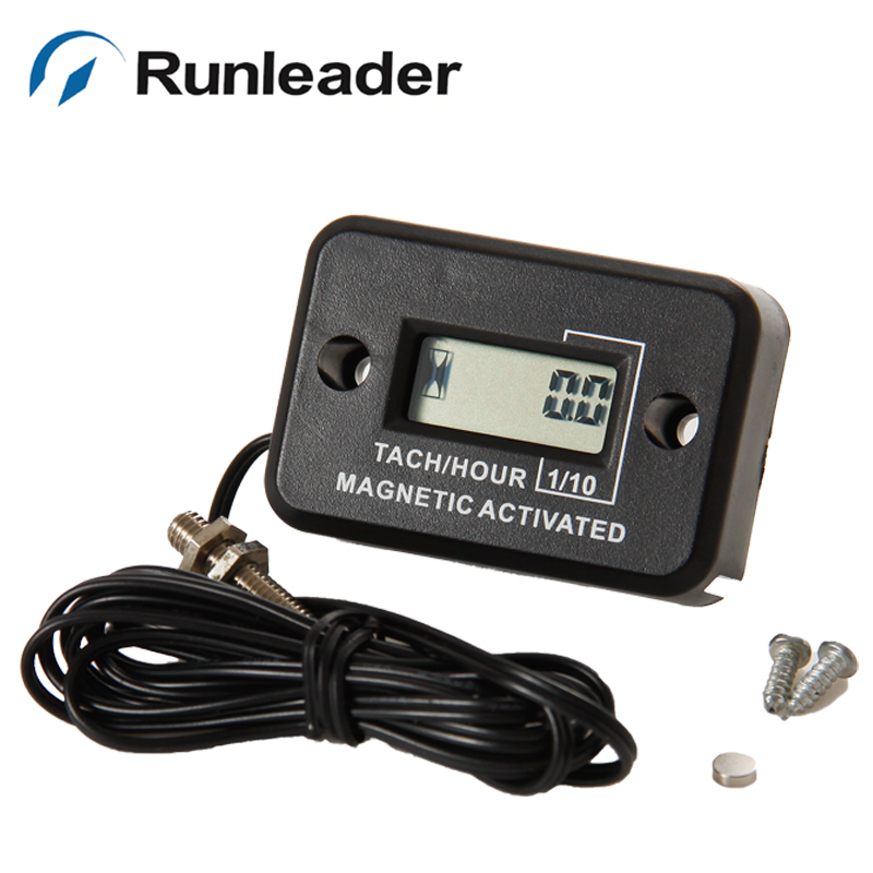 Waterproof Hourmeter for Gas Diesel Engine Motors Lawn Mower Air Compressor AIMILAR Wireless Vibration Hour Meter