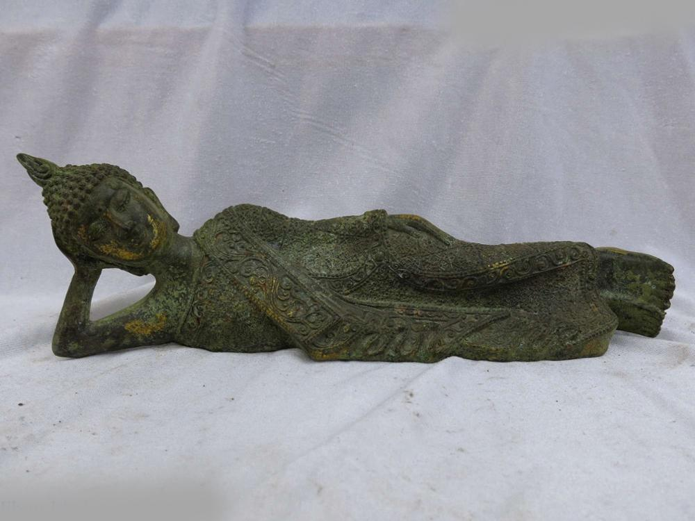 DS China old bronze gild sculpture decorative design doss Sakyamuni Buddha Statue