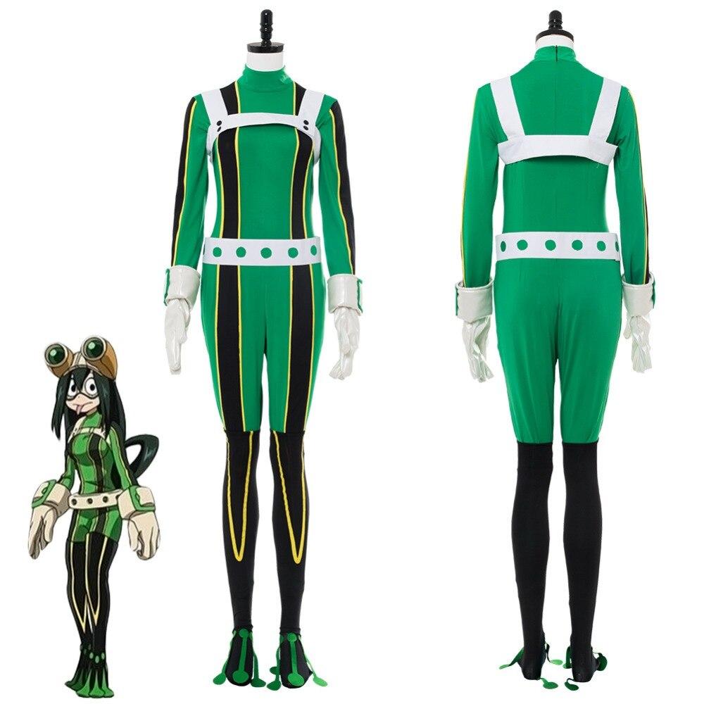 My Hero Academia Asui Tsuyu Cosplay Costume Halloween Uniform Outfit Suit Adult Women Halloween Carnival Costumes