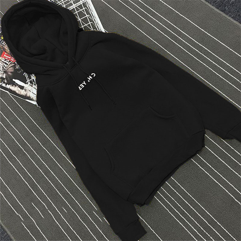 2017 Fashion Autumn Winter Fleece Oh Yes Letter Harajuku Printed Pullover Thick Loose Women Hoodies Sweatshirts  KNG88