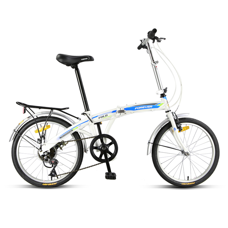 High carbon steel Folding Bicycle Adult Men and Women Ultra light Portable 20 inch Variable Speed Small Wheel B