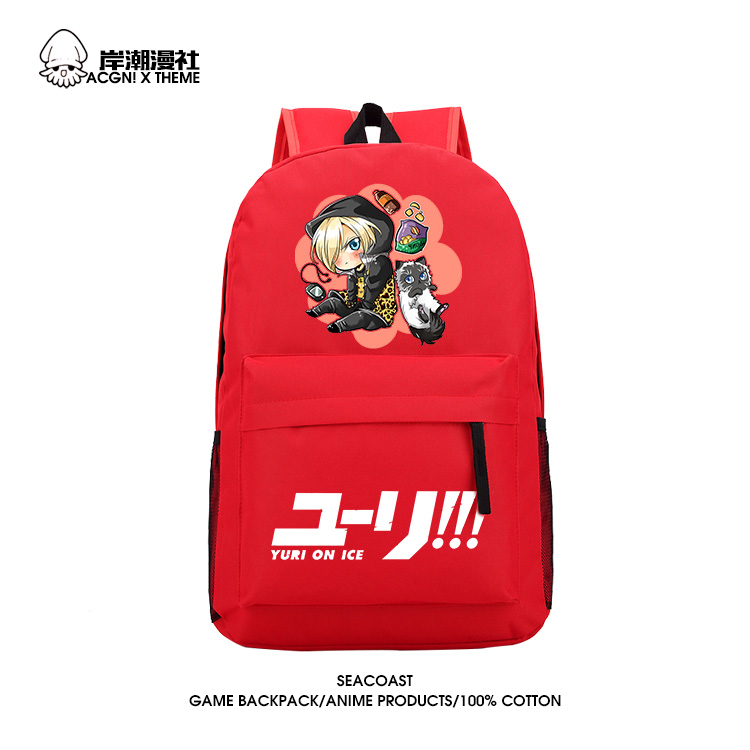 Anime YURI!!! on ICE Cosplay Yuri Plisetsky Cos  2017 new shoulder bag bag male and female student casual canvas backpack anime tokyo ghoul cosplay anime shoulder bag male and female middle school student travel leisure backpack