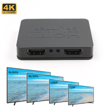 4K HDMI Splitter Full HD 1080p Video HDMI Switch Switcher  1 to 2 Split Dual Display for DVD HDTV PS3 цена и фото
