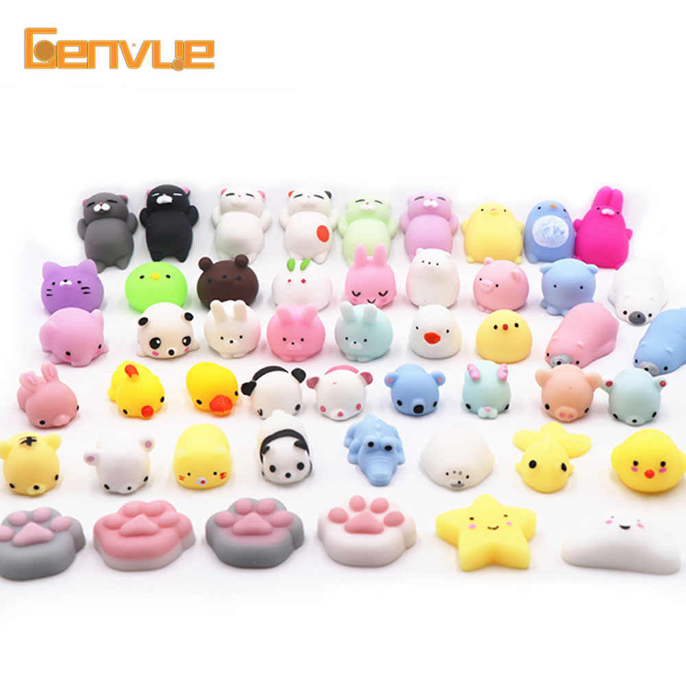 Novelty Gift Kind Of Style Soft Cute Animals Squishy Toy Decompress Colorful Stretch Reduce Stress Relief Toys Make People Happy