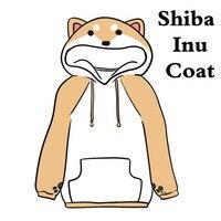 Fancy Shiba Inu Huskie Husky Cosplay Costumes Hoodies Sweatshirts Cute Animal Dog Coat