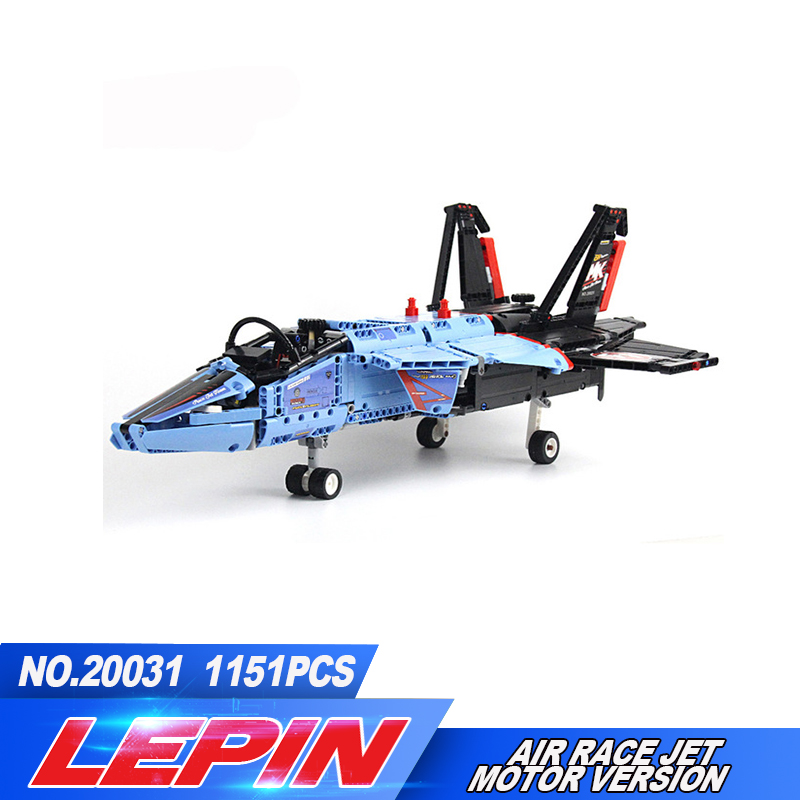 LEPIN 20031 1151pcs NEW Technic Series The jet racing aircraft Model Building Kits Brick Toy Compatible 42066 legoed lepin 20031 technic the jet racing aircraft 42066 building blocks model toys for children compatible with lego gift set kids