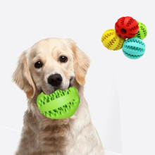 1pcs Pet Dog Toy Interactive Rubber Balls Cat Puppy Chew Toys Ball Teeth Tooth Cleaning Food