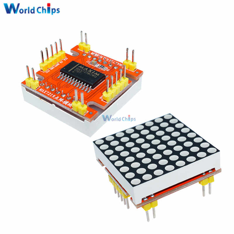 Red MAX7219 LED Dot Matrix Common Cathode Microcontroller Display Module Control 5V/3.3V LED Matrix 8x8 for Arduino