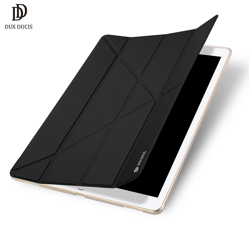 DUX DUCIS Flip Case for Apple iPad Pro 12.9 2017 PU Leather Soft TPU Bumper Stand Cover Protective Smart Auto Sleep Wake Case official original 1 1 case cover for apple ipad pro 12 9 2017 cases tpu smart clear cover for ipad pro ipad plus 12 9 2015 case