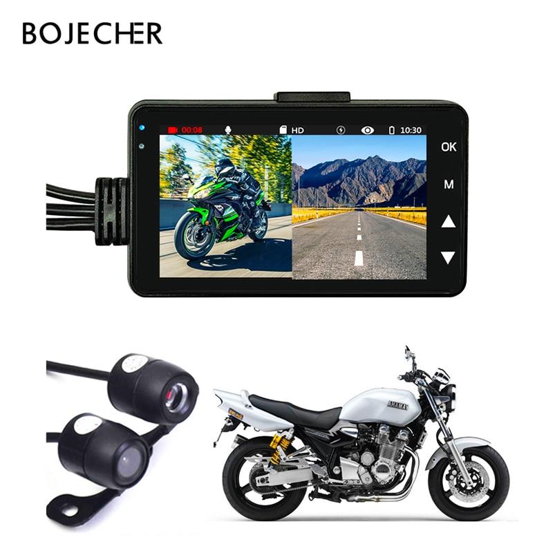 Мотоцикл Камера DVR мотор KY-MT18 Dash Cam Специальная двойная трек спереди видеорегистратор с камерой на задней панели ночное видение g-датчика чер...