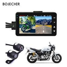Câmera da motocicleta dvr motor KY-MT18 traço cam especial dupla-pista frente gravador traseiro visão noturna g-sensor da motocicleta caixa preta