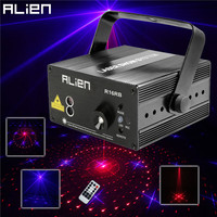 ALIEN 3 Lens 16 Patterns RB Led Laser Stage Lighting Effect Laser Projector Party Club Bar DJ Disco Home Show Professional Light