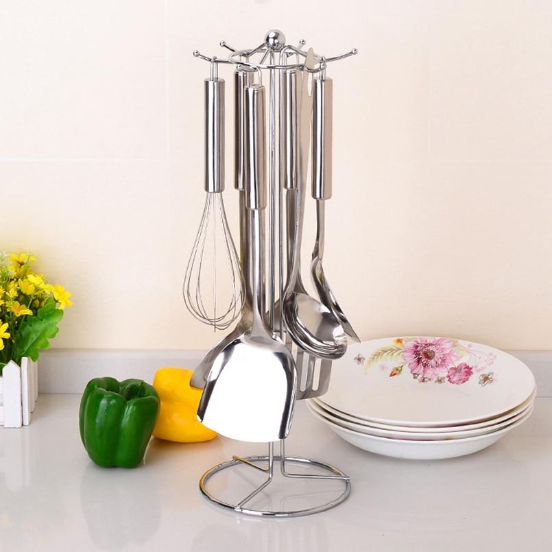 JILIDA Metal acero inoxidable encimera cuchara vajilla vajilla 6 - Organización y almacenamiento en la casa