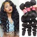 Класс 10А Перуанский Свободная Волна Волосы Сотка 3 шт. лот Перуанский Волосы девственницы Свободная Волна Дешевых Человеческих Волос Weave Queen Hair продукты