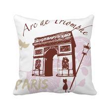АРКА Триумфальной Франции Париж ориентир подушка квадратная