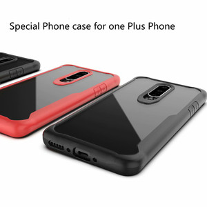 Image 2 - Heavy Duty Protection phone case for one plus 6 7 6t bumper protect Dirt resistant plain fitted case shockproof with free straps