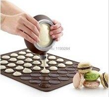 Pequeño 26*29 cm 30 Agujeros Redondos Macarons de Silicona Almohadillas de Cortadores de Galletas de Chocolate Para Hornear Mats Envío Gratis