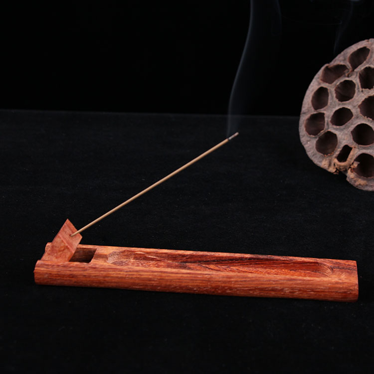 Lavender Grn Tea Glazed Clay Incense Burner Boat w//Japanese Style Incense 100