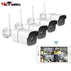 Wetrans sistema de câmera segurança sem fio 1080 p câmera ip wi fi cartão sd ao ar livre 4ch áudio cctv sistema vigilância vídeo kit camara