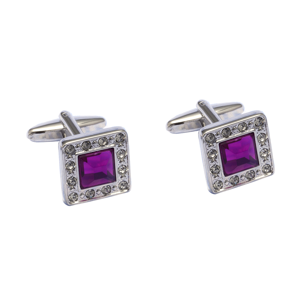 Vagula High Quality Mens Cufflinks Rhinestone Crystal Gemelos Silver-plating Shirt Cuff Links 385 Activating Blood Circulation And Strengthening Sinews And Bones Tie Clips & Cufflinks Jewelry Sets & More