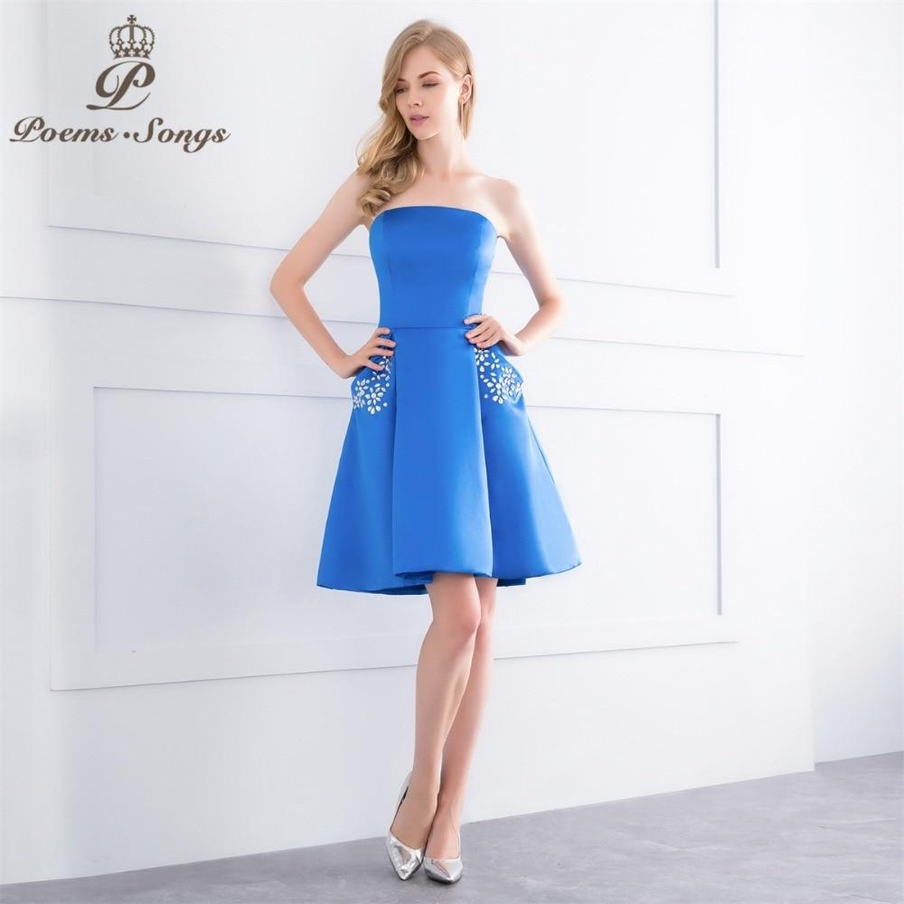 PoemsSongs 2018 New high quality short   Evening     Dresses   for Formal   Evening   Bride   dress   A-Line   dress