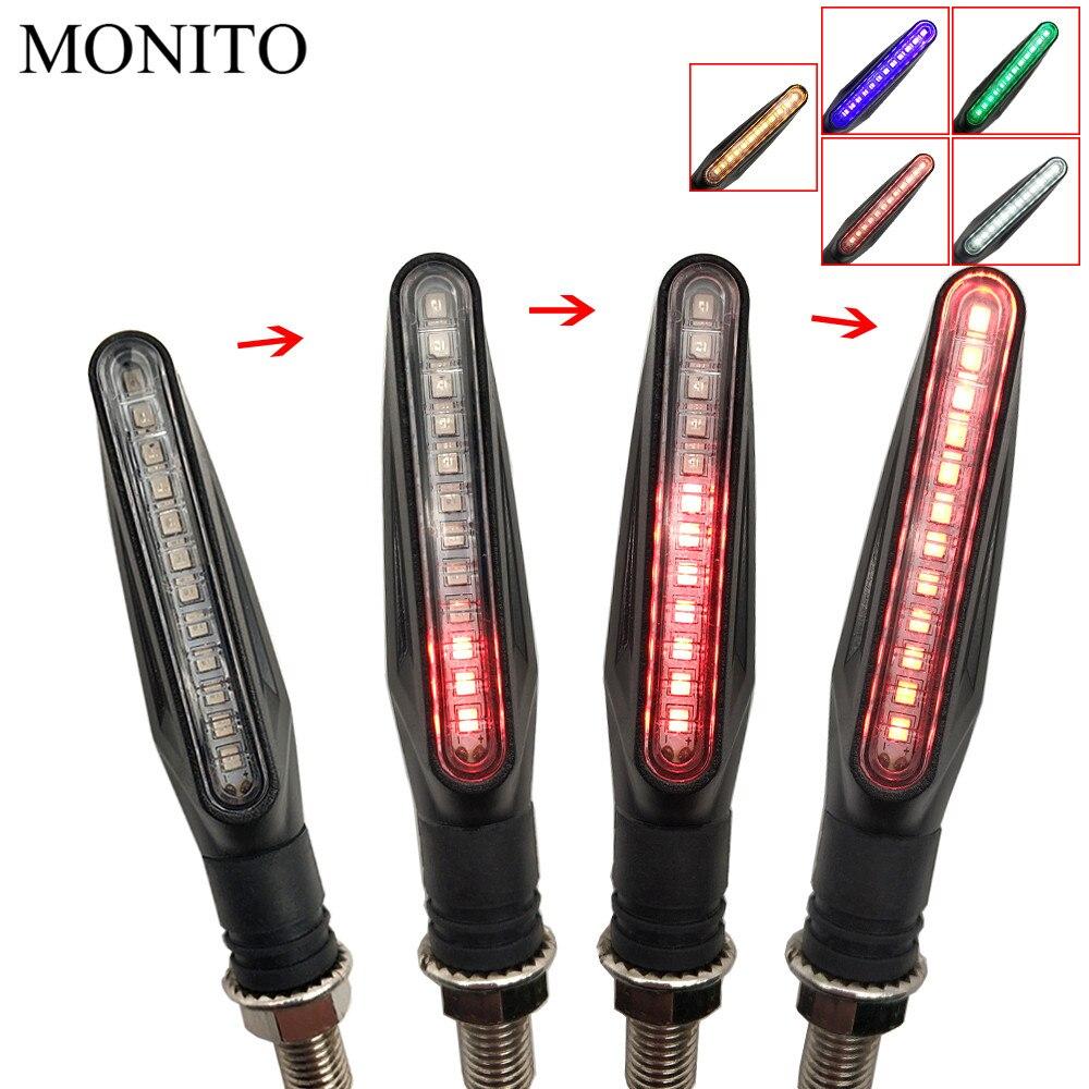 Motorcycle Turn Signals LED Lights Flowing Water Flicker Flashers Lamp For Suzuki GSXR600 GSXR750 GSXR1000 SV650 CBR600 Katana