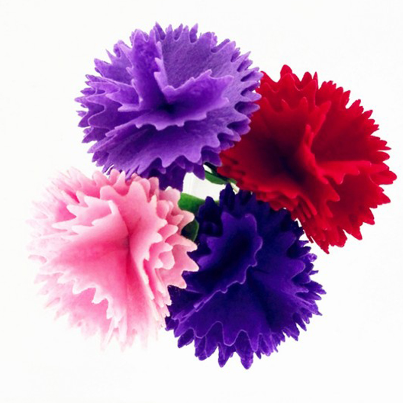 10pcs Children DIY Handmade Carnation Flowers Toys/ Kids Adult Nonwoven Fabric Material For Kindergar Art Craft Educational Toys