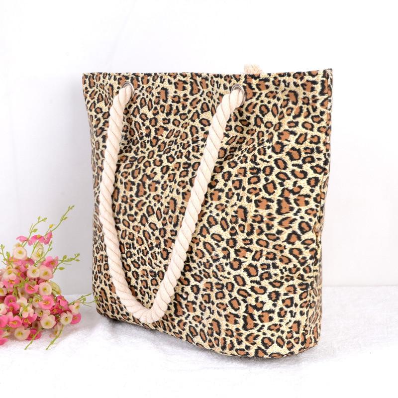 Brand New Canvas and Zipper Design Women's Shoulder Bag Summer 2017 Beach Bags Women Large Capacity Messenger Bag Leopard цены онлайн