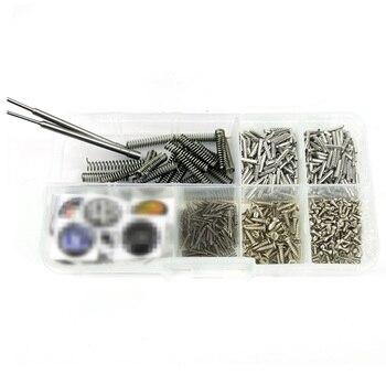 Car Flip Remote Key Accessories Repair Tool Fixed Pins Screws Set Lock Pin Spring Peg Universal 692Pcs
