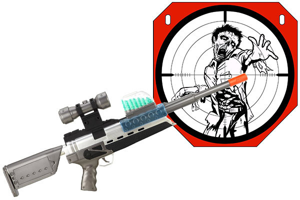 Foreign country soft gun automatic water gun bursts of electric charge NERF  toy guns ( in