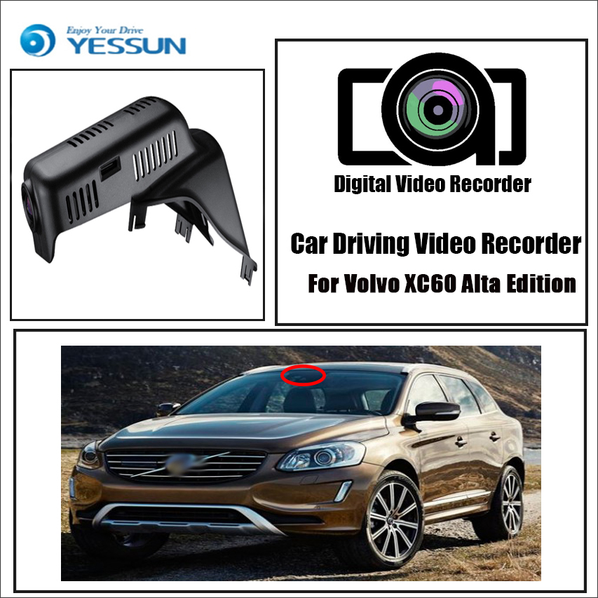 YESSUN for Volvo XC60 2012~2014 Alta Edition Car Driving Video Recorder DVR Mini Control APP Wifi Camera Registrator Dash Cam image