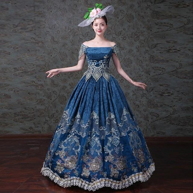db28d6ecd9f Хэллоуин вечерние Для женщин Готический викторианской платье 18th века  сцены Бальные платья пероид костюм