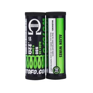 Image 2 - Bobina de Alien para accesorios de cigarrillo electrónico, 10 Uds./tubo Wotofo Ni80, bobina preintegrada, bricolaje, calefacción, Alien, Clapton, Rda