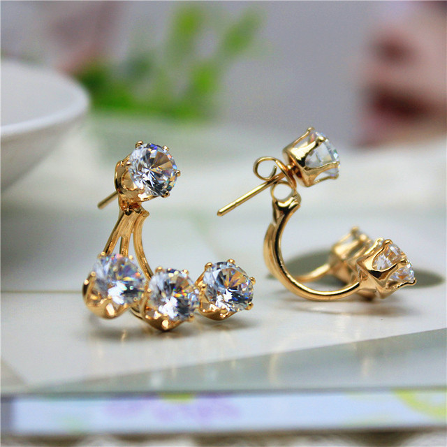 078ade6c72 US $1.39 30% OFF|2016 new design fashion brand jewelry Hook Flowers Crystal  stud earrings double Imitation pearls style Daisy earring for women-in ...