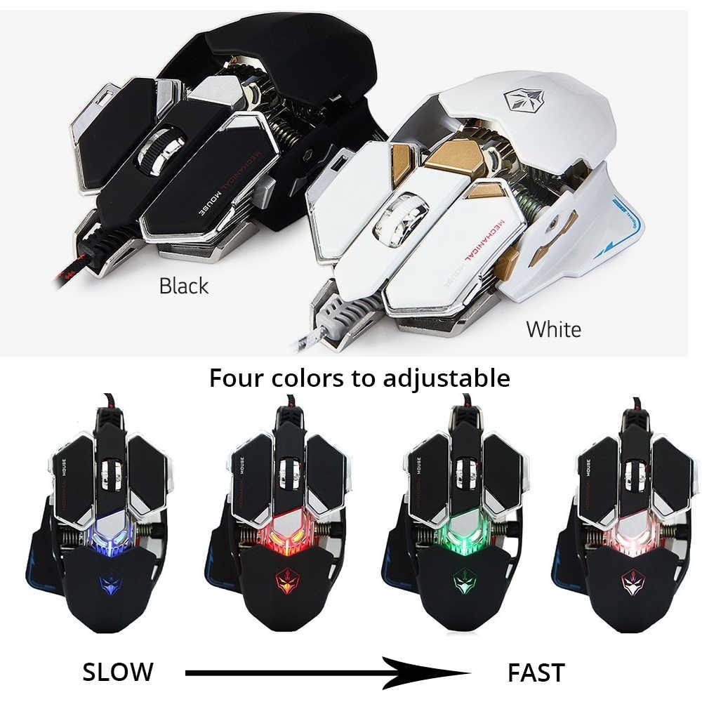 LUOM G10 RGB الألعاب ماوس USB السلكية 9 أزرار 4 ألوان الخلفية 4000 تعديل DPI ألعاب الفئران البصرية الكمبيوتر ل LOL DOTA 2