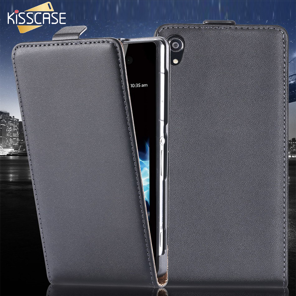 KISSCASE For Sony Z3 Z2 Z4 Phone Cases Luxury Leather Case Cover For Sony Xperia Z3 D6603 D6643 Z2 L50W D6503 Z4 Phone Bag Case