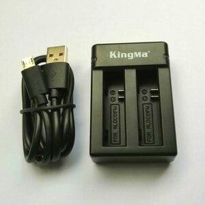 Image 2 - KingMa orijinal çift şarj cihazı piller şarj durumda orijinal Mijia pil için Xiaomi Mijia Mini 4K eylem kamera aksesuarları