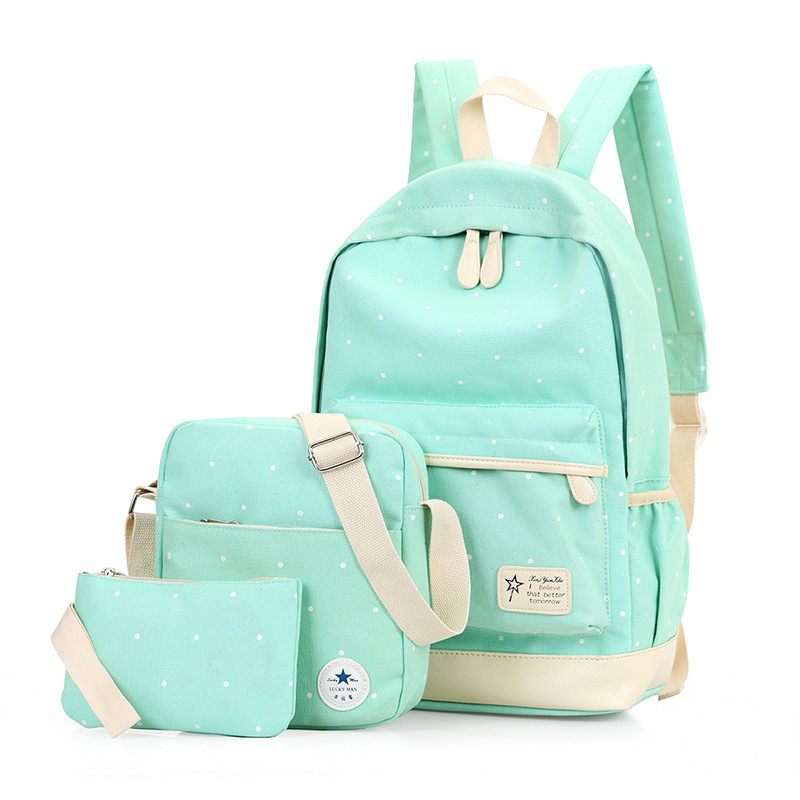 Fashion dots women backpack High quality canvas backpacks for teenage girls school backpack school bags mochila dusun women high quality oxford backpack brand design mochila women school bag for teenage girls fashion women backpack hot sale