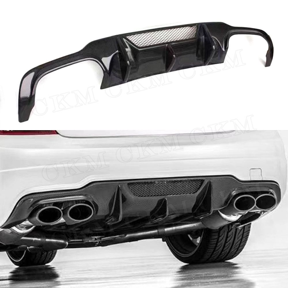 C Class Carbon Fiber Rear Bumper Lip Diffuser Spoiler for <font><b>Mercedes</b></font> Benz W204 C180 C200 C260 <font><b>C300</b></font> C63 AMG <font><b>2012</b></font> 2013 2014 image