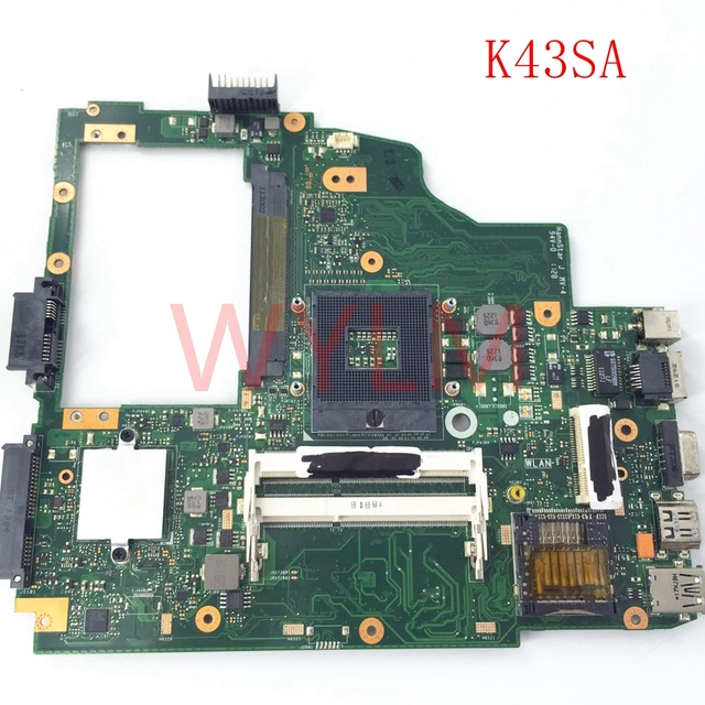 K43SA HM65 DDR3 Mainboard REV 22 For ASUS A43S X43S K43S A43SA Laptop Motherboard MAIN BOARD 100 Tested Working Free Shipping