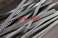 2Pcs 1Mod 1 Modulus High Precision Gear Rack steel 15*15*500mm+2Pcs 1M 15teeth 16teeth 17teeth pinion cnc rack mod 1 rack