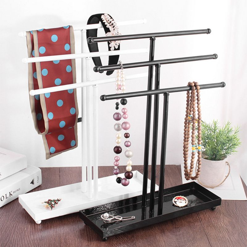 Metal 3 Tier Tabletop Bracelet Necklace Jewelry Necklace Organizer Display Tree Jewelry Holder Jewelry Organizer