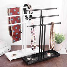 Metal 3 Tier Tabletop bransoletka naszyjnik biżuteria naszyjnik organizator wyświetlacz drzewo biżuteria uchwyt biżuteria organizator